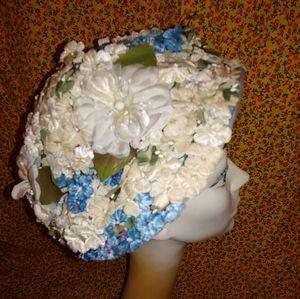 Vintage Garden Party Floral Hat